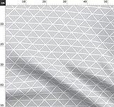 Dreieck, Geometrisch, Weiß, Linien, Grafisch, Baby Stoffe
