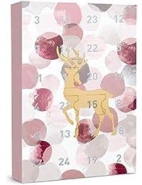 """SIX """"Weihnachten"""" Schmuck 24-teilig Adventskalender Elch Hirsch Geschenke Überraschungen Adventszeit XMAS Ohrringe Ketten Ringe Armbänder"""