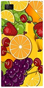 Snoogg Fruity 2428 Case Cover For Xiaomi Redmi Note