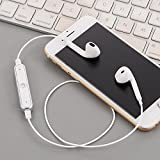 Chirde Bluetooth Kopfhörer in Ear V4.1 10 Meter Reichweite magnetisch Sport Kopfhörer Ohrhörer für iPhone, Apple Watch, Android, Echo Dot und Weitere Geräte (Silbern)