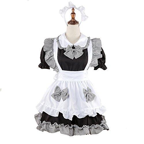 QIANDING shengdan Maid Wear Maid Tragen Western Restaurant Kellner Kleidung Uniform Anzug Halloween-Kostüm