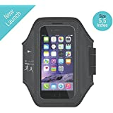 Uspech® Arm Band Adjustable Sports Running, Jogging, Gym, Yoga, Aerobics, Cycling Anti-slip Ultra Light Weight Armband Mobile Holder (Large Size For Screen Size Upto 5.5 Inches Like Iphone 6 Plus, 6S Plus & Samsung Galaxy Edge S6, S7)