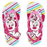 0c60b3582ffe79 Zehentrenner Mädchen Minnie Disney mit Glitzer und Gummiband