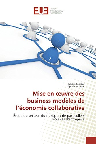 Mise en oeuvre des business modEles de l'conomie collaborative