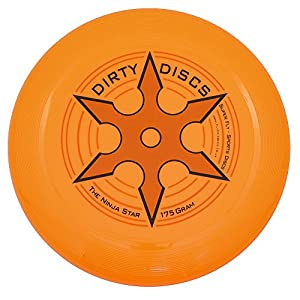Dirty Disc Estrella Ninja en Lanzamiento de Disco del Disco Volador (Naranja)