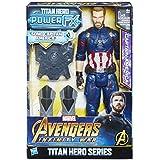 Avengers: Infinity War - Captain America Titan Hero Power FX (Personaggio 30cm, Action Figure), E0607103