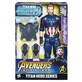 Avengers: Infinity War – Captain America Titan Hero Power FX (Personaggio 30cm, Action Figure), E0607103