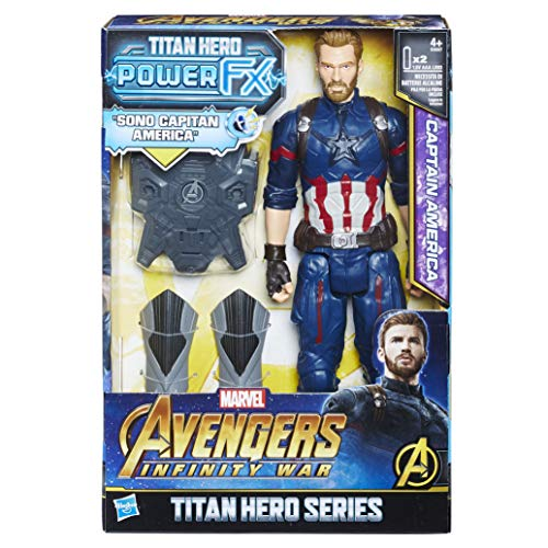 Avengers: Infinity War - Captain America Titan Hero Power FX (Personaggio 30cm, Action Figure), E0607103