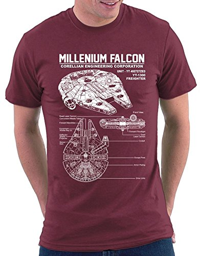 Star Millenium Falcon T-shirt Bordeaux