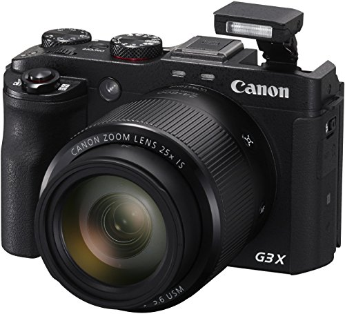 Canon Powershot G3X 20.2MP Digital Camera (Black) with 25x Optical Zoom