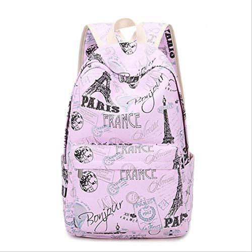 LINADEBAO Marke Leinwand Frauen Rucksack Studenten High Middle School Taschen für Teenager Mädchen Laptop Reiserucksäcke 1 - 30 Nike Pegasus Frauen