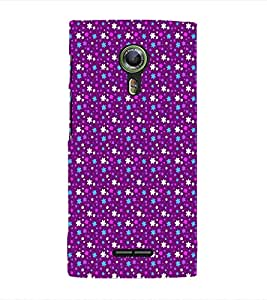 EPICCASE bling purple flowers Mobile Back Case Cover For Alcatel One Touch Flash 2 (Designer Case)