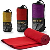 Fit-Flip Microfiber Towel 100x200-red-winered