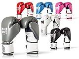 Paffen Sport FIT Boxhandschuhe mit atmungsaktiver Mesh-Innenhand für das Training im Boxen