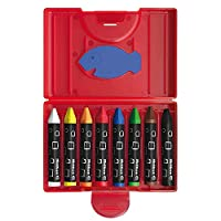 Pelikan 722942 665/8D - Plastic Case with 8 thick Triangular Crayons Pencils