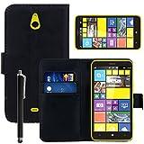 VCOMP Custodia Cover Portafoglio Pelle Finta per Nokia Lumia 1320