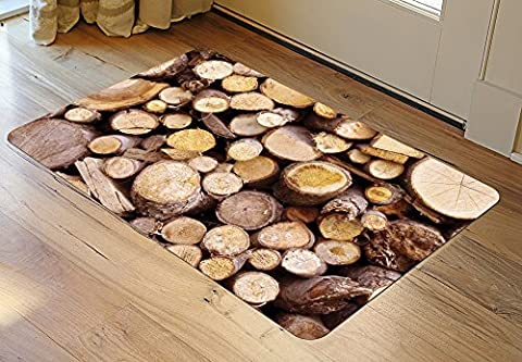 Faux Flooring Stacked Logs Mat, 23