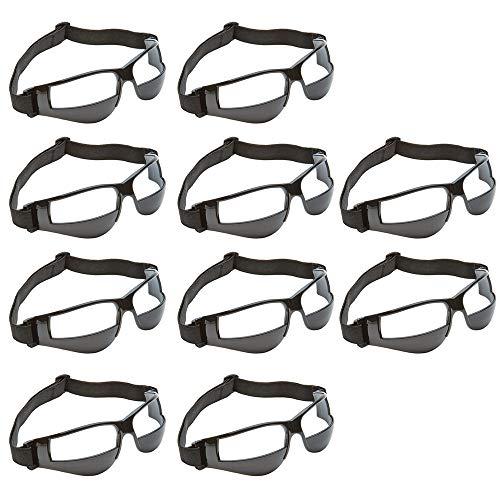 10 STÜCKE Sport Dribble Brille für Basketball Trainingshilfe, Basketball Brille, ideal für die Verbesserung der Dribbling Fähigkeit, Handhabung Fähigkeiten, Jugendliche Kinder Geschenke, schwarz -