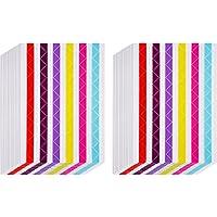 30 Hojas de Esquinas de Foto Pegatina de Esquina de Montaje de Foto Auto Adhesiva para Álbum de Fotos, Álbum de Recortes, Diarios (Multicolor)