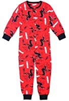 Kids Boys 100% Cotton Spiderman Onesie Pyjamas Childrens All In One Size UK 3 to 10 Years