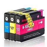 Tigtak - 3 x Stück Druckerpatronen Ersatz für OfficeJet 7612 7510 6100 eprinter 7610 6600 7600 6700 premium Patronen Tinte Multipack (1 Blau, 1 Rot, 1 Gelb)