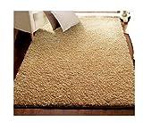 Innenteppich Wohnzimmer Teppich - Schlafzimmer Sofa Lila Nachttisch Teppich, Fassade Decke, Monochrom Dicker Teppich Decke ( Farbe : Beige , größe : 100*140cm )