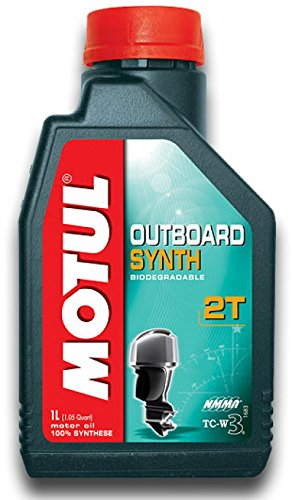 Motul 101722 Motoröl Outboard Synth 2T, 1 L (Außenbordmotoren Tohatsu)