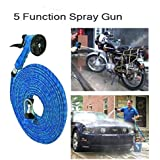 10 Mtr Pressure Washing Multifunctional Water Spray Jet Gun Hose Pipe For Garden/Car/Bike/Pet Wash- Assorted Color - B07H42RYH6