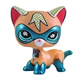 dreamsLE_Pet toy store Figure Jouet Lâche Mignon Rare Pet Shop Action Cartoon Animal Chat Figures Collection LPS pour Enfants / Enfant / Fille Cadeau 1 pcs (Chat aux Yeux Bleus)