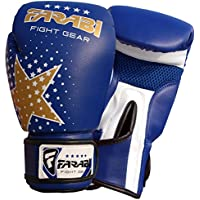 Farabi Star Kids Boxing gloves best for kickboxing, Martial Arts, MMA, Muay Thai, Fitness and Gym training 6-oz