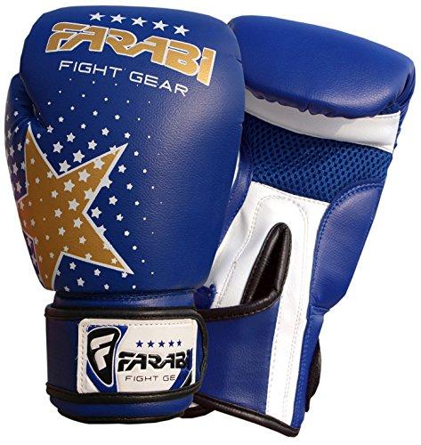 Farabi Junior Starlux Handschuh-Serie für die Jugend für Kinderboxen, gemischte Kampfkünste MMA Muay Thai, Kickboxen Abbildung 2