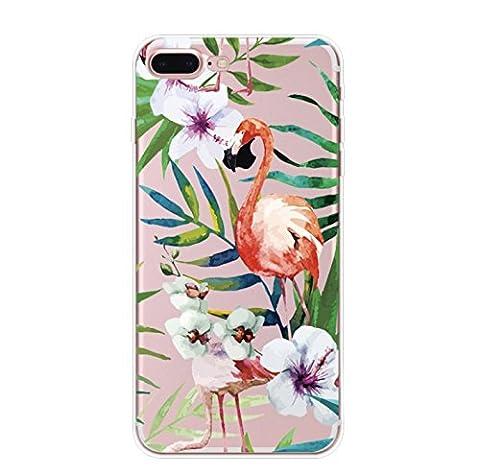 Incendemme Coque Housse / Etui Téléphone en Silicone Souple Serie Flammant Coque Rose TPU pour iPhone (iPhone 7 plus, 1)