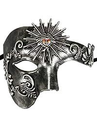 Thmyo Phantom de Demi-Visage Vintage des Hommes de l'opéra Masque de Mascarade de Carnaval vénitien