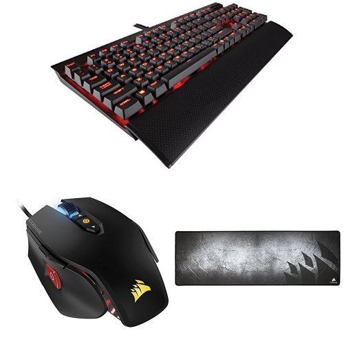 Corsair K70 Lux - Teclado gaming (USB, alámbrico, USB), negro - QWERTY...