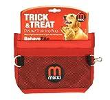 Mikki Dog and Puppy Deluxe Training Treat Bag Pouch, Adjustable Waist Belt Shoulder Strap