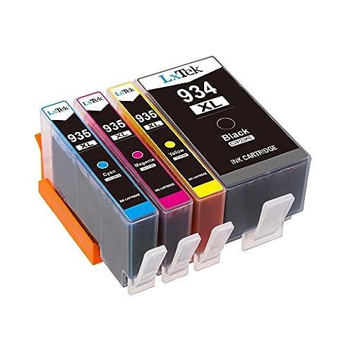 LxTek Compatible Cartouches d'encre Remplacement pour HP 934XL 935XL 934 935 High Yield 4 Pack ( 1 Noir, 1 Cyan, 1 Magenta, 1 Jaune ) pour HP Officejet Pro 6830 6820 6230 6812 6815 6835 Imprimante
