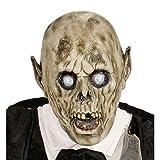 Masque de zombie effrayant Cagoule latex psychopathe mascarade de mort-vivant jeune marié déguisement de visage d'horreur orque masque effrayant monstre accessoire de costume Halloween adulte