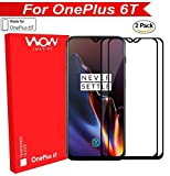 WOW Imagine Premium Full Glue 5D Full Edge-to-Edge Screen Protection Tempered Glass for 1+6T One Plus OnePlus 6T (Black) (Pack of 2)
