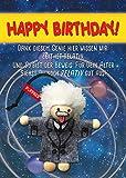 Püppkes Geburtstags-Einstein Geschenkartikel, Holz, Bunt, 15 x 10.5 x 2.7 cm