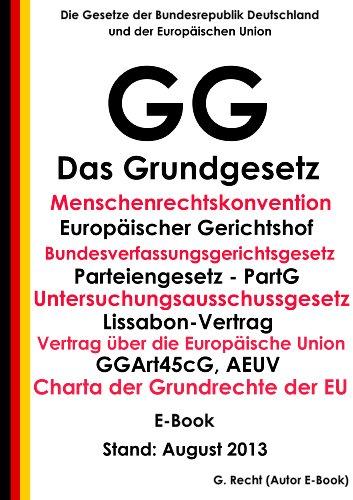 Das Grundgesetz Gg E Book Mit Menschenrechtskonvention