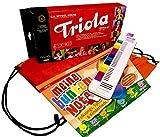 TRIOLA 12 Kompakt-Set mit Tasche für Instrument und Noten. Die beliebte Blasharmonika mit farbigen Tasten für Kinder im Set mit dem Triola-Liederbuch : Meine bunten Noten - Beliebte deutsche und englische Kinderlieder für Klavier, Keyboard , Melodica und Triola