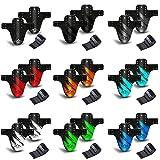 NICEDACK Parafango MTB, Compatibile Anteriore o Posteriore Enduro Parafanghi Bici MTB Misura BMX 20 26' 27,5' 28' 29 Pollici Mountain Bike Mudguard e Fat Bike Mud Guard (Nero Grigio)