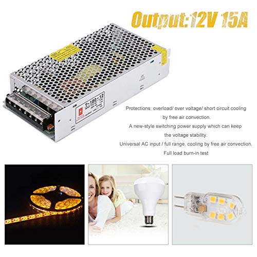 Universal Regulated Switching Power Supply for Closed Circuit TV 180W 12V 15A An Reliable Switching Power Supply