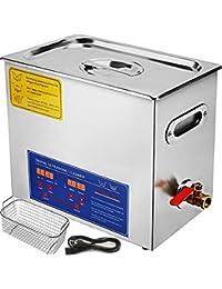Tecmaqui Digital de ultrasonidos máquina de limpieza para la limpieza de acero inoxidable 6L