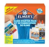 Elmer\'s Glue Slime Starter Kit, Clear Glue, Glitter Glue Pens and Magical Liquid Slime Activator Solution, Count of 8