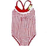 Mädchen Strand Badeanzug One Piece Red Plaid Badeanzüge Kleinkind Baby 2Yrs