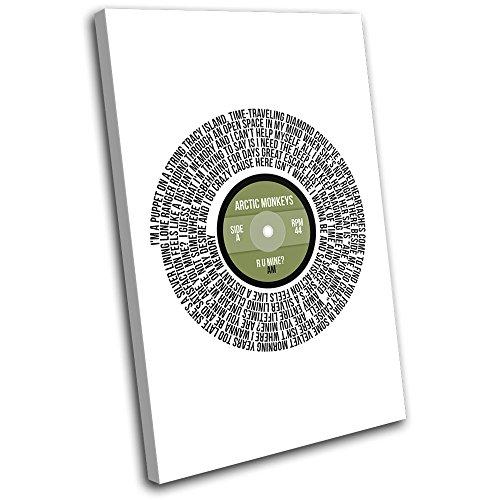Bold Bloc Design - NAS The World Record Lyrics Vinyl Song Musical 40x40cm Single Leinwand Kunstdruck Box gerahmte Bild Wand hangen - Bereit Zum Aufhangen - Canvas Art Print