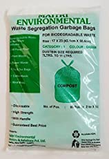 MAITRI 2 Color Waste Segregation Combo Wet and Dry Garbage Bags, Total Qty 140 Pcs