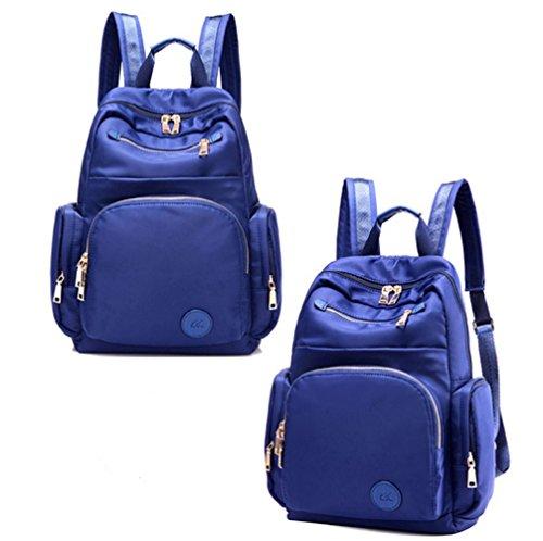 Damen schultertaschen,canvas-tasche,schulranzen-Lila Blau