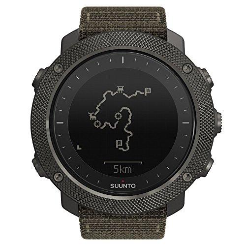 Suunto TRAVERSE ALPHA - Reloj GPS de exterior para pesca, caza y excursionismo, hasta 100 horas de batería, sumergible, color verde camuflage
